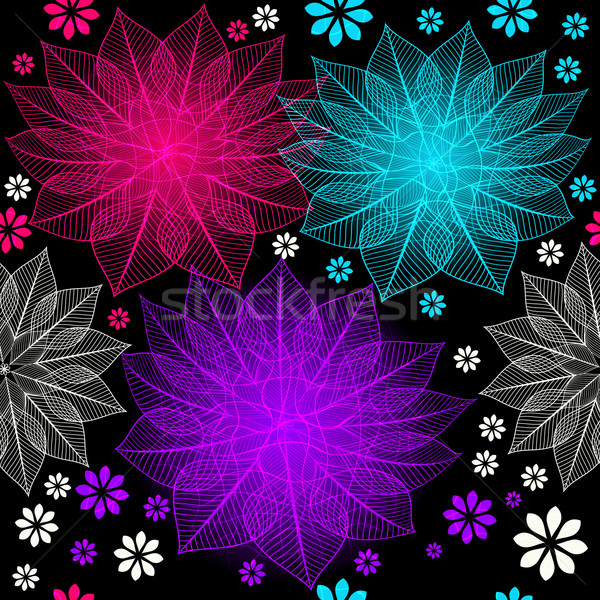 Seamless floral dark pattern Stock photo © OlgaDrozd