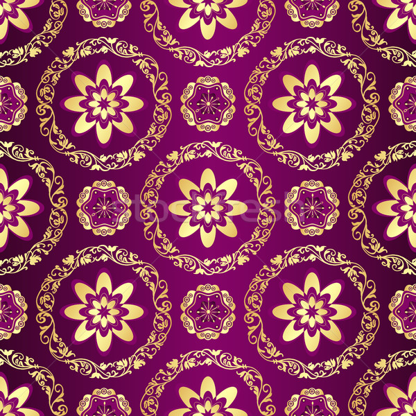 Floral purple seamless pattern  Stock photo © OlgaDrozd