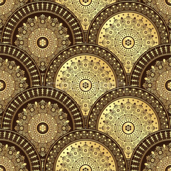 Altın kahverengi parlak eğim bağbozumu Stok fotoğraf © OlgaDrozd