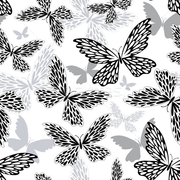 Repeating white-black pattern Stock photo © OlgaDrozd