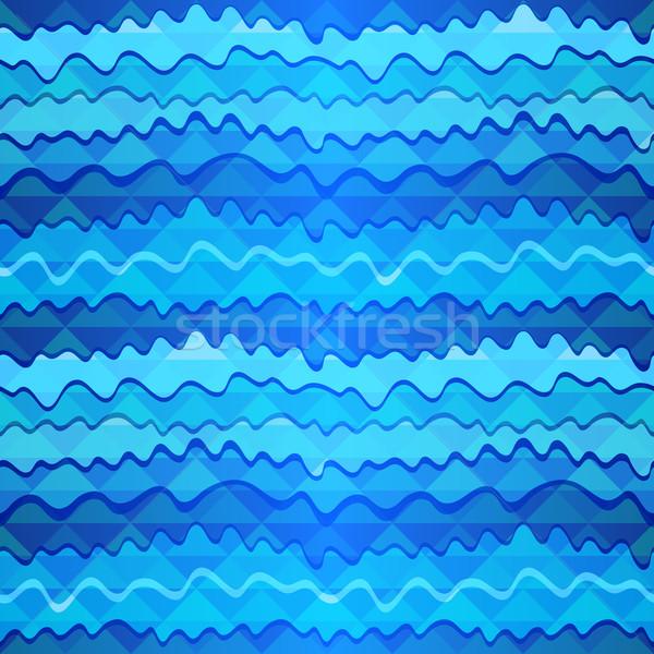 Seamless zigzag pattern Stock photo © OlgaDrozd