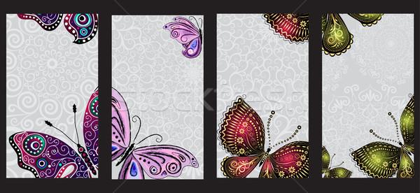 Ensemble coloré vintage gradient Photo stock © OlgaDrozd