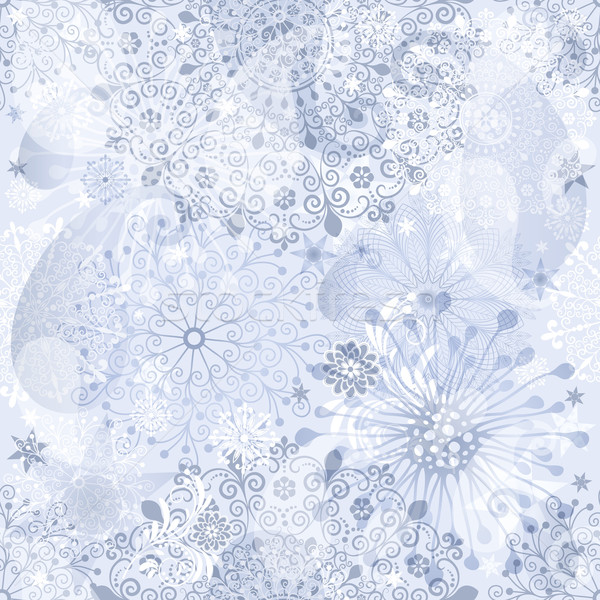 Christmas silvery seamless pattern Stock photo © OlgaDrozd