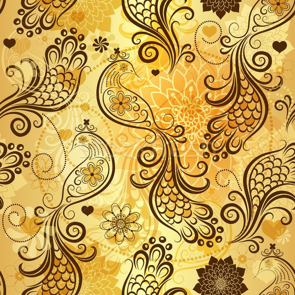 Repeating golden pattern Stock photo © OlgaDrozd