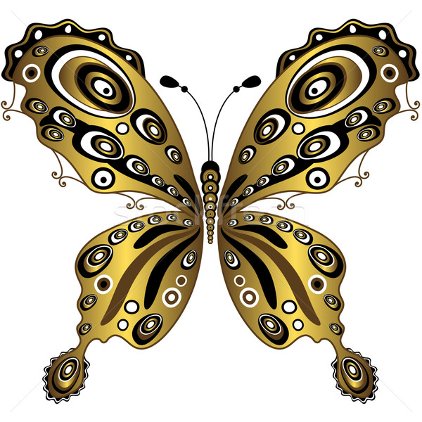 Gold butterfly Stock photo © OlgaDrozd