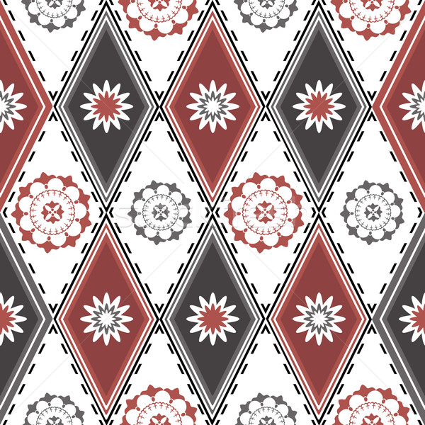 Seamless pattern with rhombuses Stock photo © OlgaDrozd