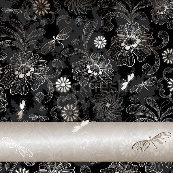Grunge vintage silvery frame Stock photo © OlgaDrozd
