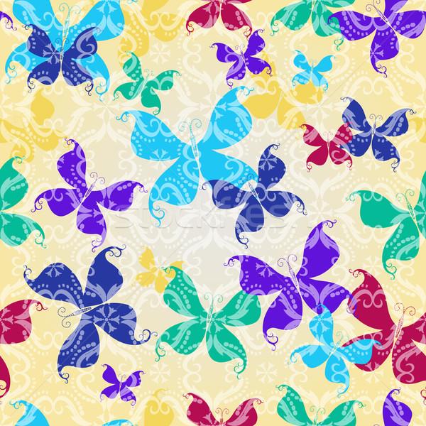 Papillons transparent vintage modèle Photo stock © OlgaDrozd