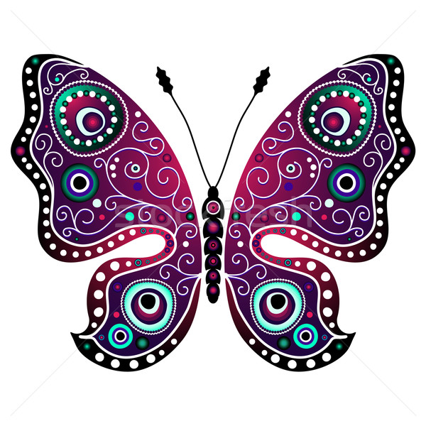 Bright abstract butterfly Stock photo © OlgaDrozd