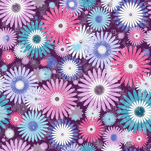 Seamless floral vivid pattern Stock photo © OlgaDrozd