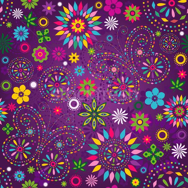 Seamless motley violet pattern Stock photo © OlgaDrozd