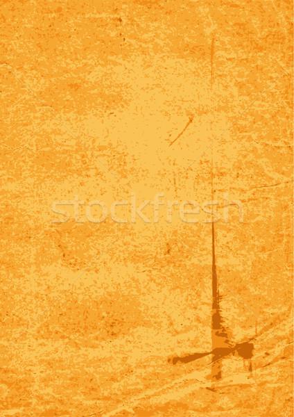 öreg citromsárga foltos papír koszos vektor Stock fotó © OlgaDrozd