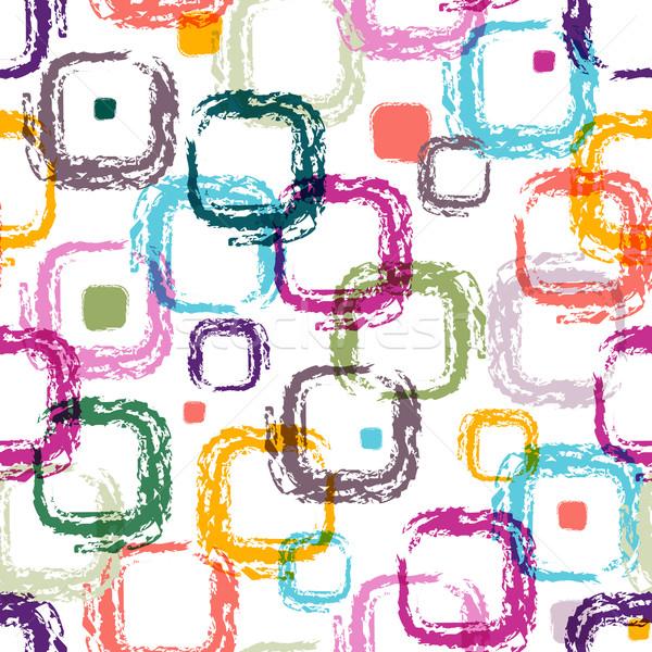 Senza soluzione di continuità bianco pattern colorato Foto d'archivio © OlgaDrozd
