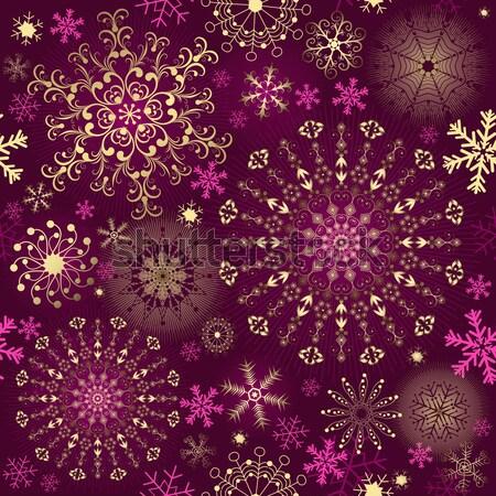 Рождества обои фиолетовый белый вектора Сток-фото © OlgaDrozd