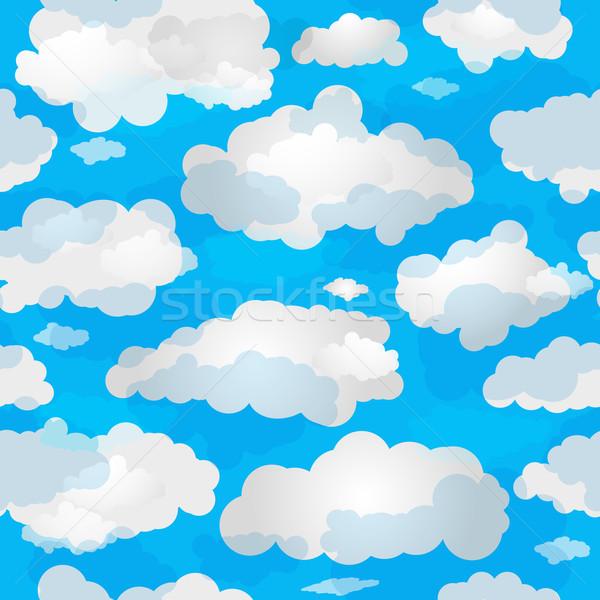 Сток-фото: весны · облака · Blue · Sky · белый · полупрозрачный