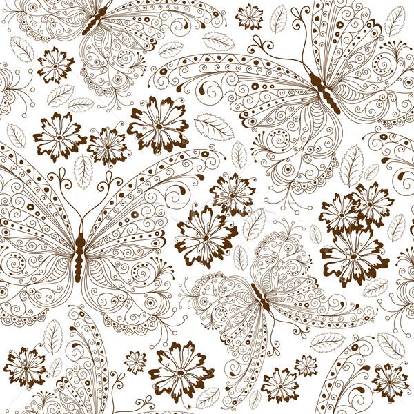 Repeating floral vintage pattern Stock photo © OlgaDrozd