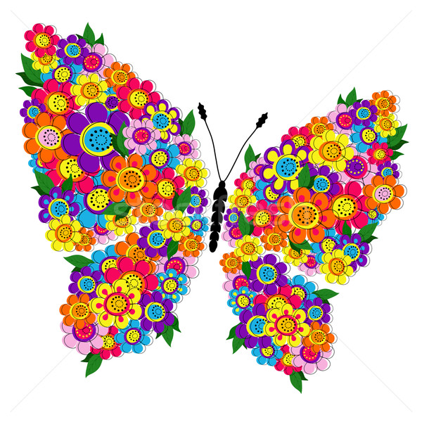 Spring floral butterfly Stock photo © OlgaDrozd