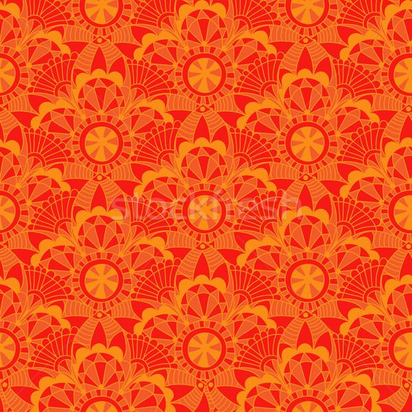 Vintage orange vecteur résumé Photo stock © OlgaDrozd