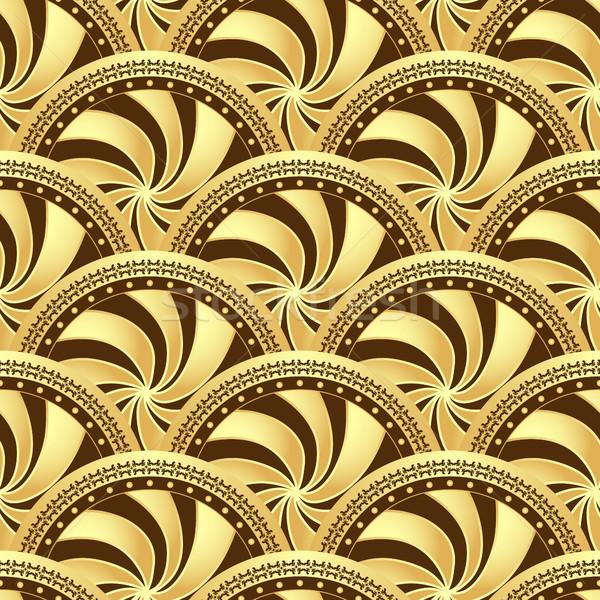 Klasszikus végtelen minta körök gradiens vektor terv Stock fotó © OlgaDrozd
