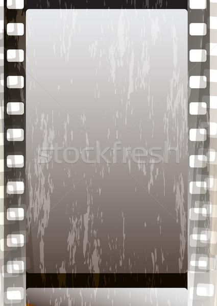 Grunge cinza filme tiras projeto vetor Foto stock © OlgaDrozd
