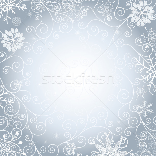 Christmas gentle frame Stock photo © OlgaDrozd