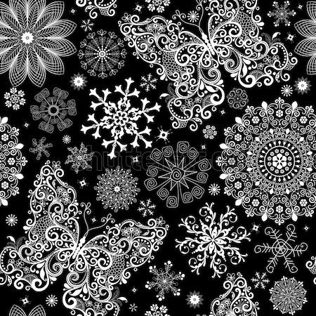 Seamless black-white christmas graphic pattern Stock photo © OlgaDrozd