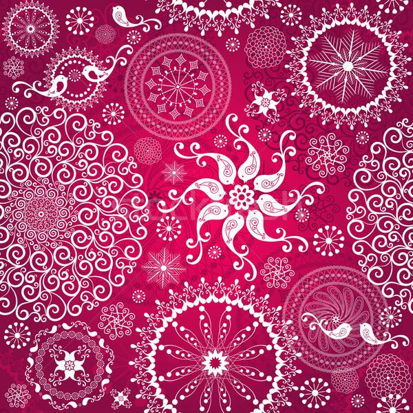 Рождества красный шаблон белый стилизованный Сток-фото © OlgaDrozd