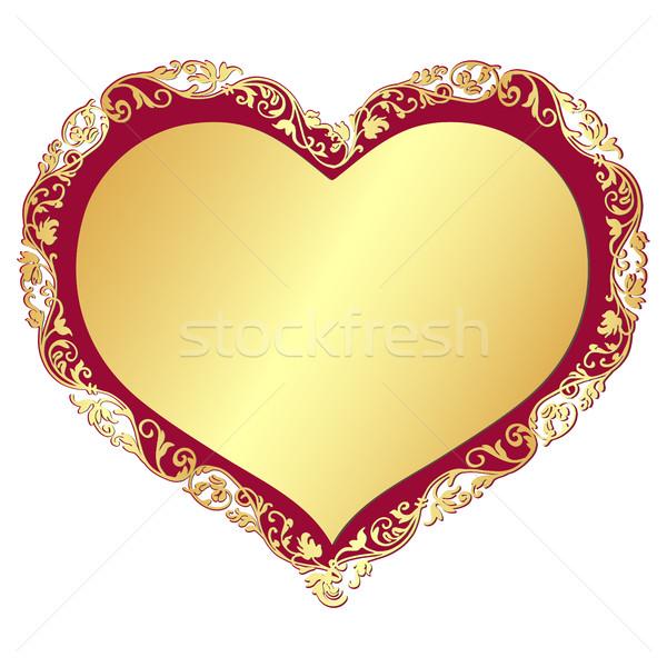 Gold valentine frame  Stock photo © OlgaDrozd