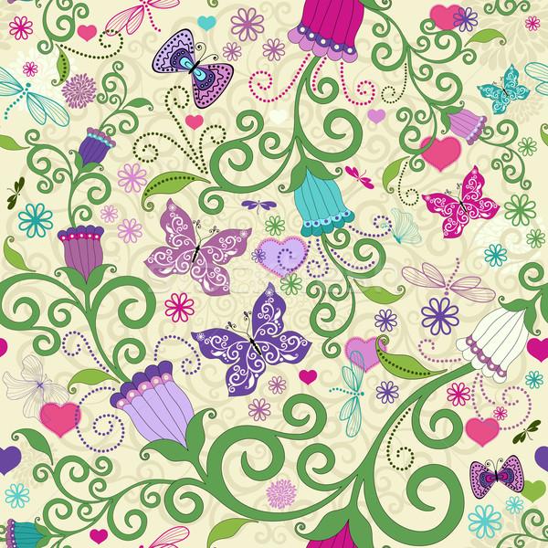 Seamless valentine vivid pattern Stock photo © OlgaDrozd