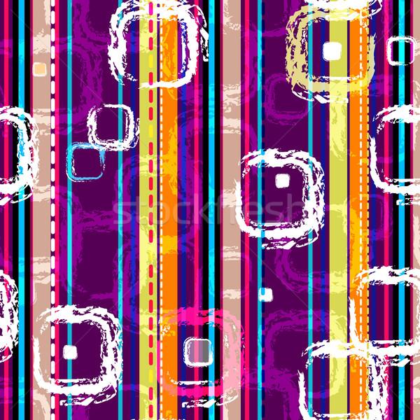 Rayé modèle coloré graphique Photo stock © OlgaDrozd