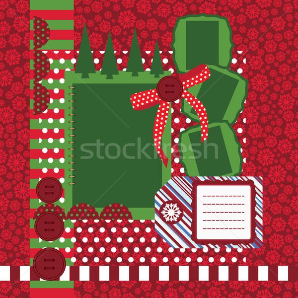 Vector Christmas page - set of design elements Stock photo © OlgaYakovenko