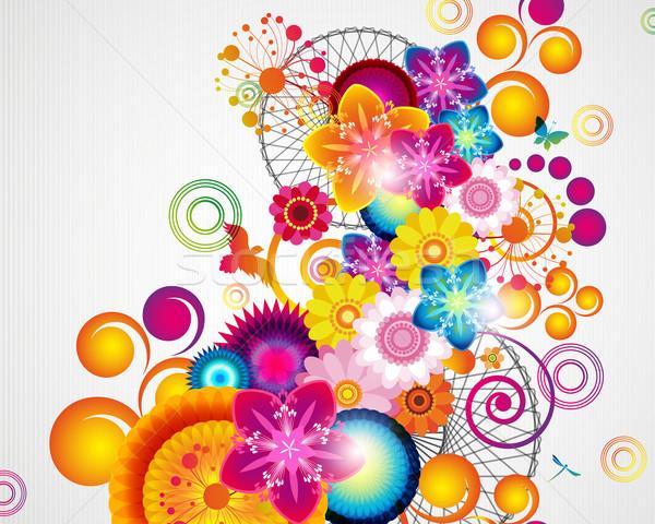 ギフトカード フローラル デザイン テクスチャ 春 背景 ストックフォト © OlgaYakovenko