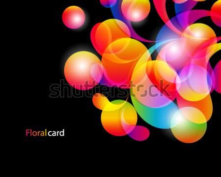 Karte abstrakten hellen Farbe Tropfen sauber Stock foto © OlgaYakovenko