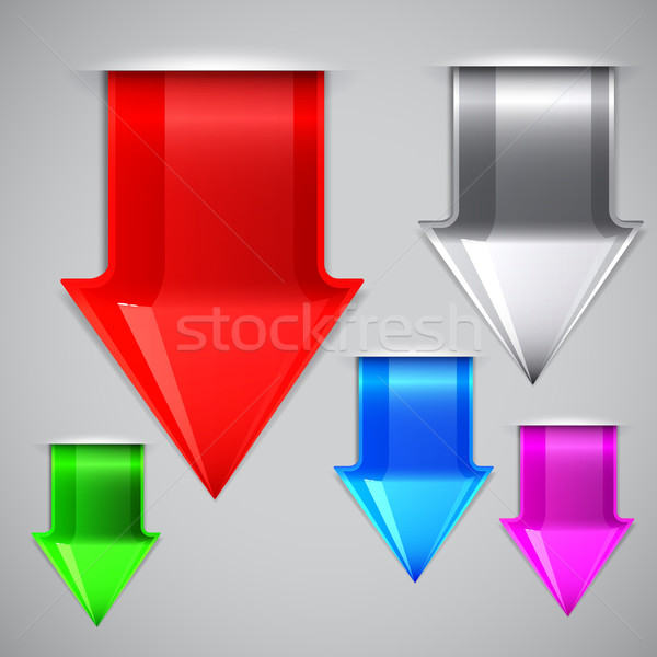 Arrows bookmarks. Vector illustration  Stock photo © OlgaYakovenko