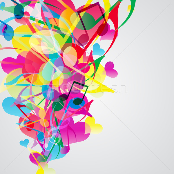 Colorful music background with bright musical design elements. Stock photo © OlgaYakovenko