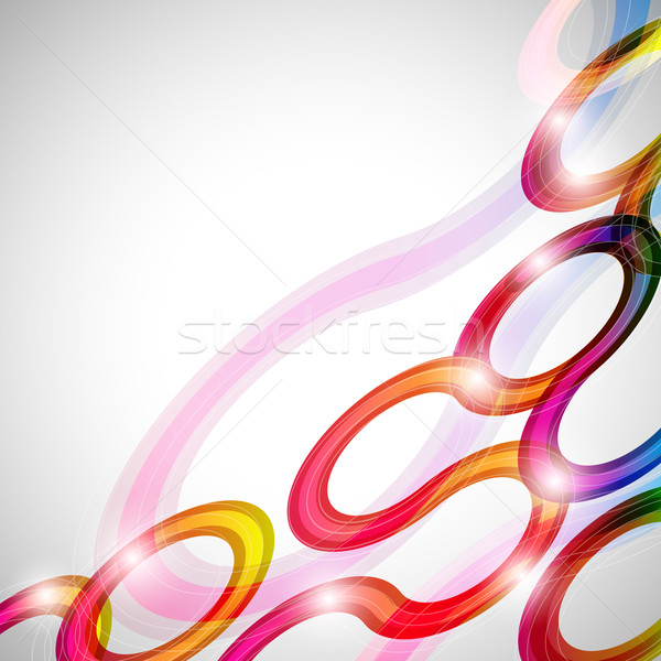Curls abstract background in eps10 format. Stock photo © OlgaYakovenko