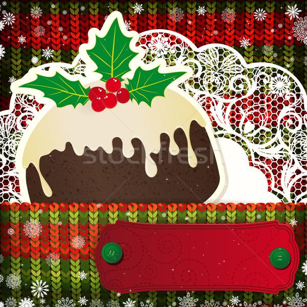Weihnachten Dekorationen gestrickt glücklich Mode Stock foto © OlgaYakovenko