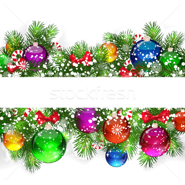Noel noel ağacı dekore edilmiş balonlar Stok fotoğraf © OlgaYakovenko