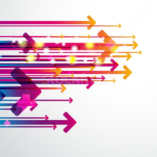 Abstract digital art background with arrows. Stock photo © OlgaYakovenko