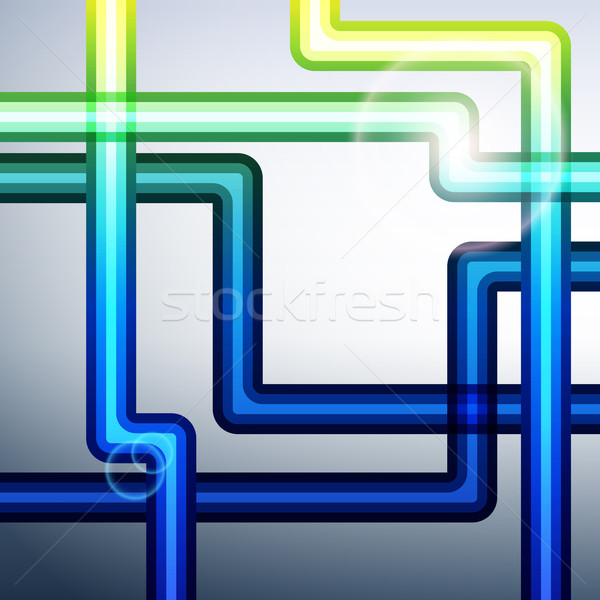 Banded lines abstract vector background  Stock photo © OlgaYakovenko