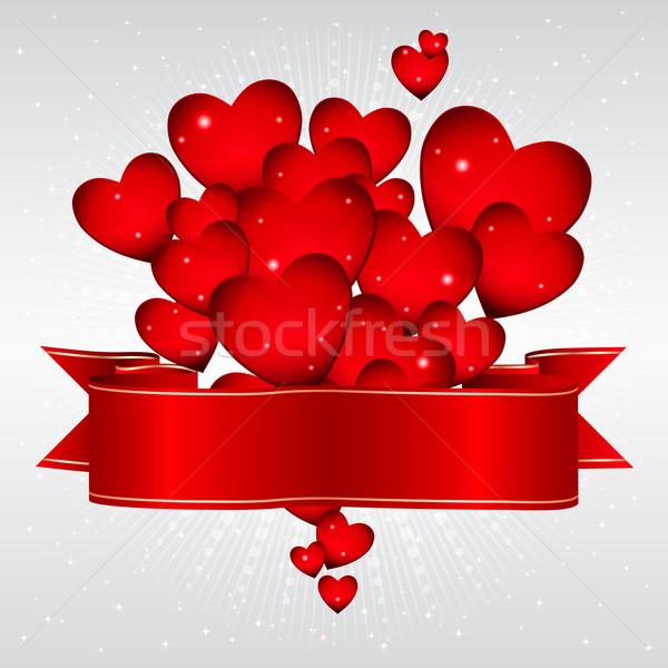 Kalpler şerit sevmek mutlu Stok fotoğraf © OlgaYakovenko