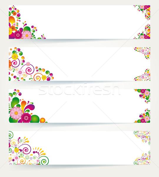 цветочный дизайна Баннеры цветок весны аннотация Сток-фото © OlgaYakovenko