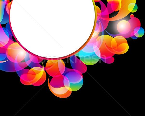 Kart soyut parlak renk damla temizlemek Stok fotoğraf © OlgaYakovenko