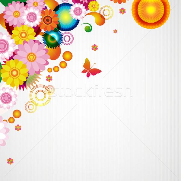 цветочный дизайна бабочка природы кадр Сток-фото © OlgaYakovenko