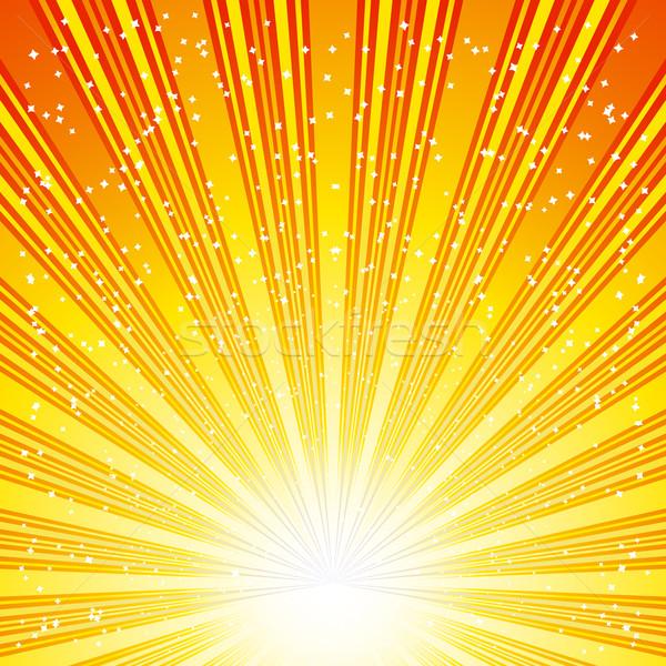 Nap absztrakt sugarak csillagok nap terv Stock fotó © OlgaYakovenko