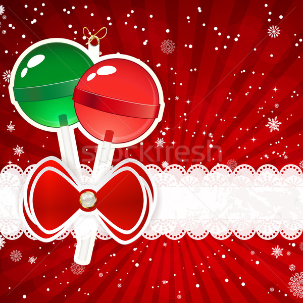 Weihnachten Dekor Elemente Vektor Papier Textur Stock foto © OlgaYakovenko