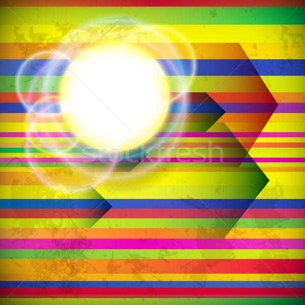 Soyut dizayn Retro afiş oklar kâğıt Stok fotoğraf © OlgaYakovenko