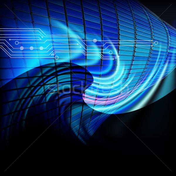 Soyut techno hat doku uzay mavi Stok fotoğraf © OlgaYakovenko