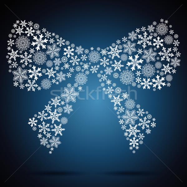 Сток-фото: Рождества · лук · снежинка · дизайна · вечеринка · фон