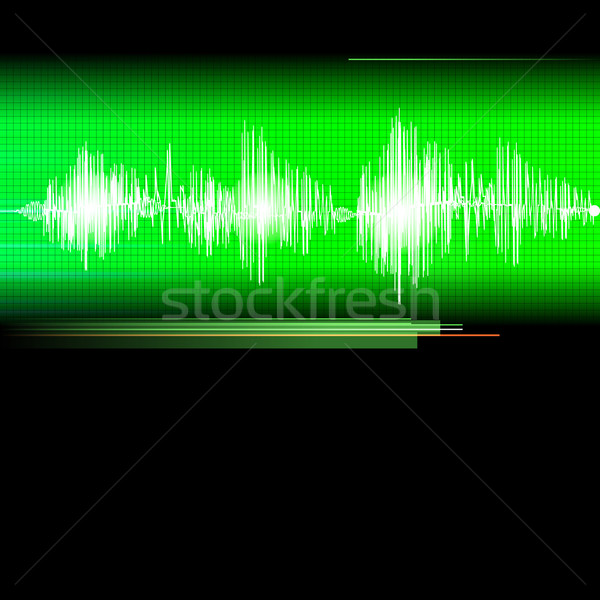 Stock photo: ECG Electrocardiogram medical background.